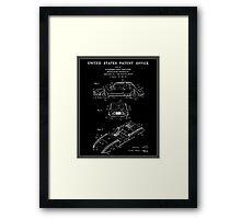 Automobile Body Patent - Black Framed Print