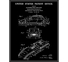 Automobile Body Patent - Black Photographic Print