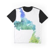Watercolor Map of Newfoundland and Labrador, Canada in Green and Blue - Giclee Print of My Own Graphic T-Shirt
