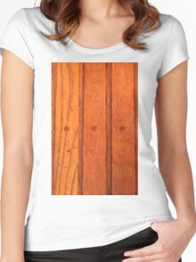 Wood Floor Again Women's Fitted Scoop T-Shirt