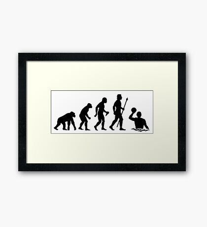 Water Polo Evolution T Shirt Framed Print