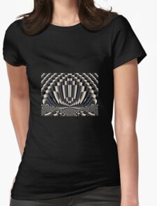 Abstract vintage painting design Womens Fitted T-Shirt