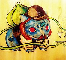 Bulbasaur in a Bowler by Jayne Whitaker