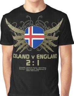 Iceland England 2:1 Euro 2016 T-Shirts & Merchandise V1-black Graphic T-Shirt
