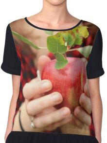 Red, Red Apple Chiffon Top