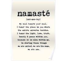 Namaste. Poster