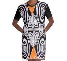 Hypnotize Orange outfit Graphic T-Shirt Dress