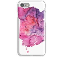 Watercolor Map of New Brunswick, Canada in Pink and Purple - Giclee Print  iPhone Case/Skin