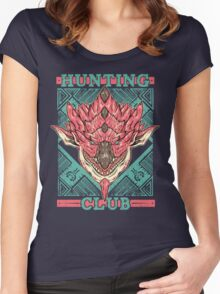 Hunting Club: Pink Rathian  Women's Fitted Scoop T-Shirt