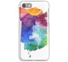 Watercolor Map of New Brunswick, Canada in Rainbow Colors - Giclee Print iPhone Case/Skin