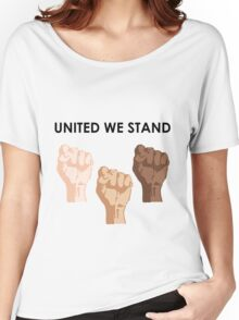 UNITED WE STAND (Black Font) Women's Relaxed Fit T-Shirt