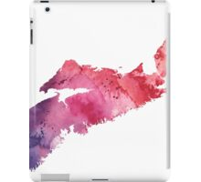 Watercolor Map of Nova Scotia, Canada in Orange, Red and Purple - Giclee Print  iPad Case/Skin