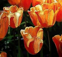 Orange Tulips by PaintPerfect
