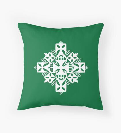 Ethiopian Cross 4 Throw Pillow