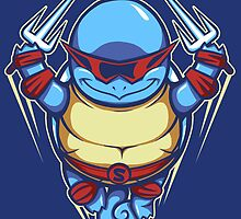 Ninja Squirtle - Pillow and Tote by TrulyEpic