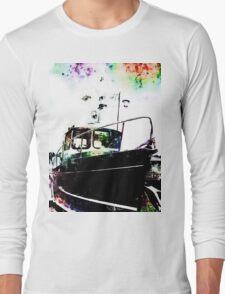 Black Tug with Rainbow Long Sleeve T-Shirt