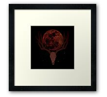 The Elder Scrolls Daedric INSPIRED Lunar Deer Skull Framed Print