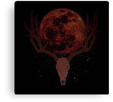 The Elder Scrolls Daedric INSPIRED Lunar Deer Skull Canvas Print