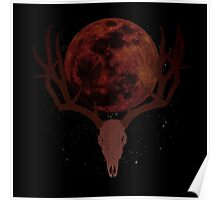 The Elder Scrolls Daedric INSPIRED Lunar Deer Skull Poster