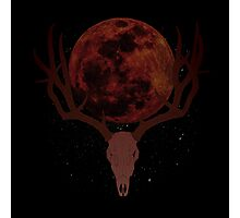 The Elder Scrolls Daedric INSPIRED Lunar Deer Skull Photographic Print