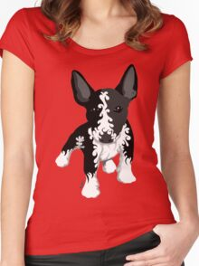 Spiral English Bull Terrier Puppy Women's Fitted Scoop T-Shirt