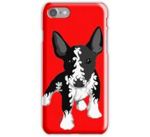 Spiral English Bull Terrier Puppy iPhone Case/Skin