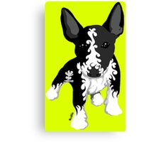 Spiral English Bull Terrier Puppy Canvas Print