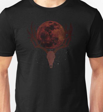 The Elder Scrolls Daedric INSPIRED Lunar Deer Skull Unisex T-Shirt