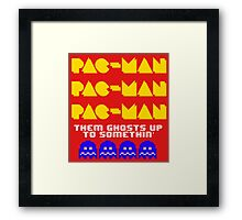 PACMAN/Jumpman Ghosts Framed Print