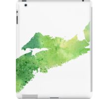 Watercolor Map of Nova Scotia, Canada in Green - Giclee Print My Own Watercolor Painting iPad Case/Skin