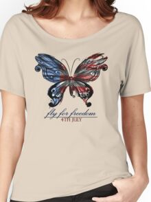 fly for freedom,4th july Women's Relaxed Fit T-Shirt