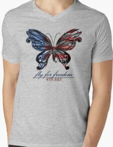 fly for freedom,4th july Mens V-Neck T-Shirt