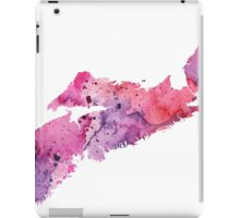 Watercolor Map of Nova Scotia, Canada in Pink and Purple - Giclee Print My Own Watercolor Painting iPad Case/Skin