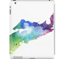 Watercolor Map of Nova Scotia, Canada in Rainbow Colors - Giclee Print  iPad Case/Skin