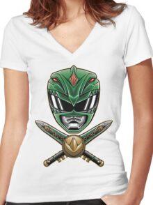 Dragonzord Power Women's Fitted V-Neck T-Shirt