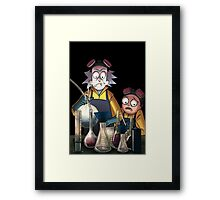 Breaking Bad Rick and Morty Framed Print