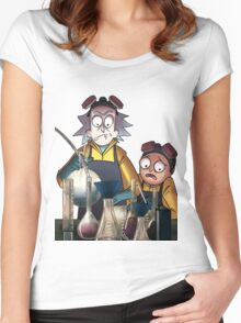 Breaking Bad Rick and Morty Women's Fitted Scoop T-Shirt