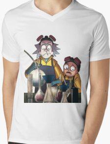 Breaking Bad Rick and Morty Mens V-Neck T-Shirt