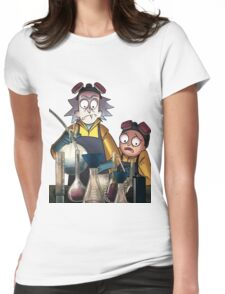 Breaking Bad Rick and Morty Womens Fitted T-Shirt