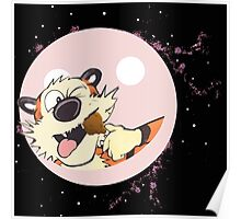 hobbes eat on baloon Poster