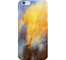 Abstract defocused colour lights in a dark blue night sky iPhone Case/Skin