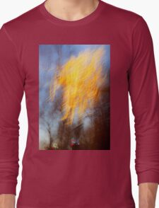 Abstract defocused colour lights in a dark blue night sky Long Sleeve T-Shirt