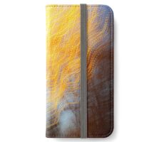 Abstract defocused colour lights in a dark blue night sky iPhone Wallet/Case/Skin