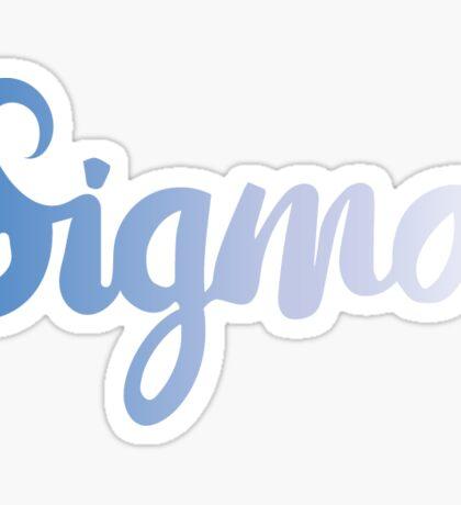 sigma light blue Sticker