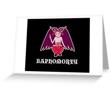 Baphomorty STICKER Greeting Card