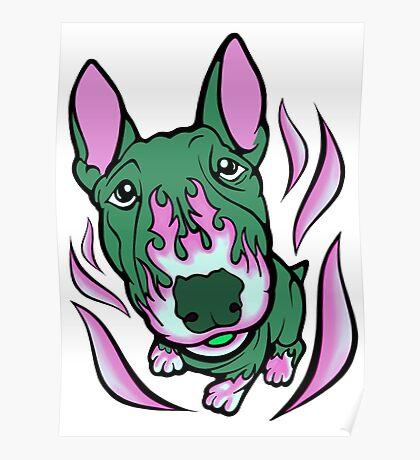 Hot Rod Thistle Bull Terrier Poster