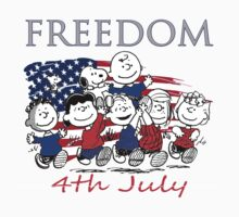Peanut,Celebrate Independence Day One Piece - Long Sleeve
