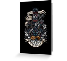 day of the dead patriot Greeting Card
