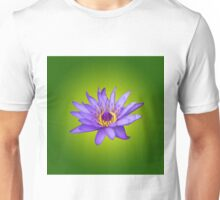 Water Lily Flower Pond Aquatic Purple Water Bloom  Unisex T-Shirt