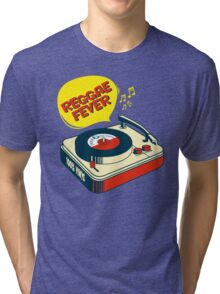 "REGGAE FEVER "" 100% VINYL TROJAN RECORDS ""  Tri-blend T-Shirt"